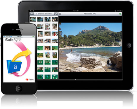 SafeSync offers mobile access for Android devices and iOS devices like iPhone and iPad